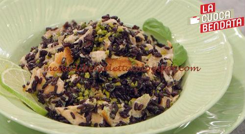 La Cuoca Bendata - Insalata di riso venere con salmone e lime ricetta Parodi