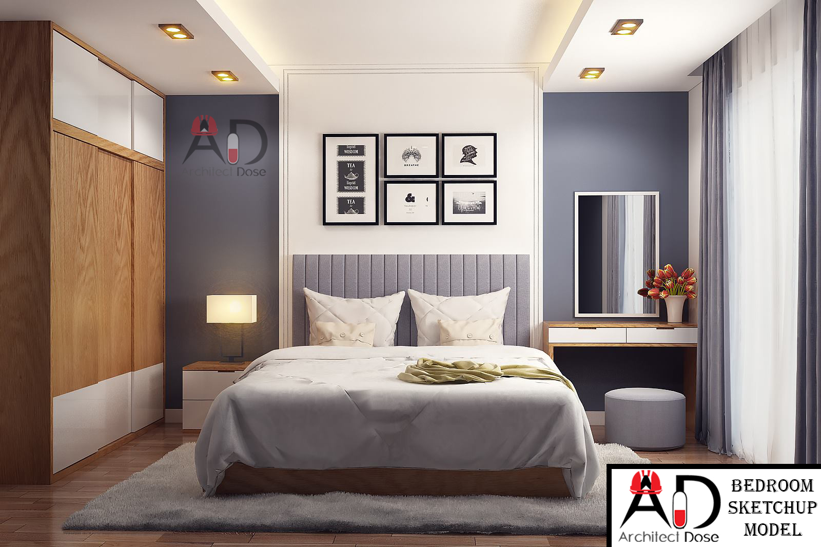 Architect Dose | Architecture, Sketchup, Tutorials, Models on Model Bedroom Ideas  id=97224