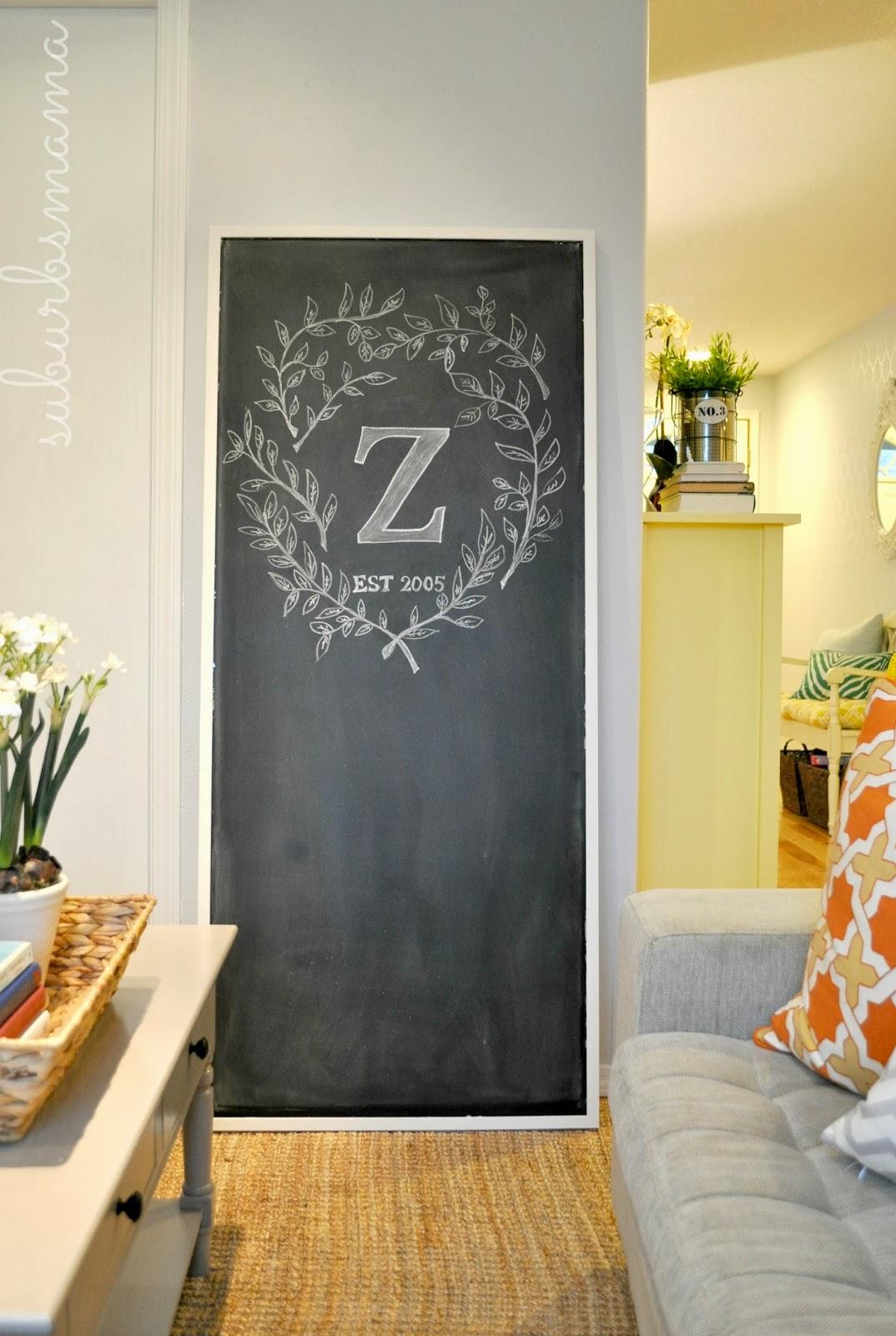 Suburbs Mama Diy Large Chalkboard