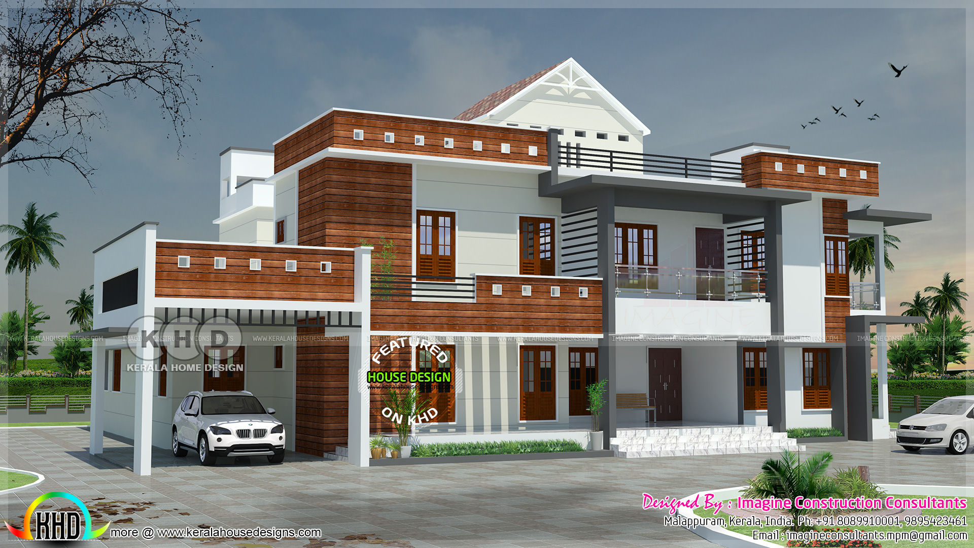 6 bedroom modern luxury home plan | kerala home design