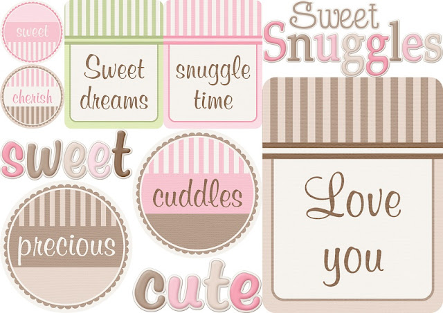 Signs of the Sweet Cuddles Clip Art.