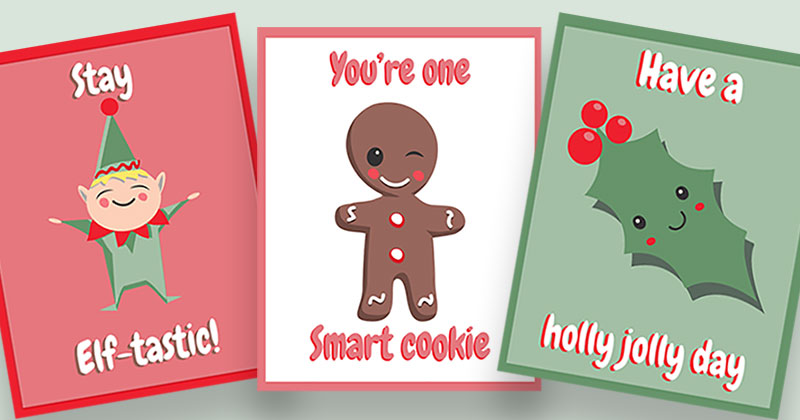 Printable Christmas Lunchbox Notes Boys by sweetmadygifts ... |Christmas Lunch Box Notes
