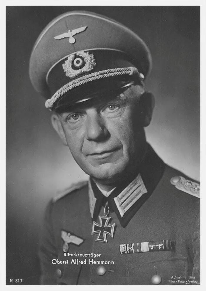 Alfred Hemmann Ritterkreuzträger Knight Cross Holder Postcard