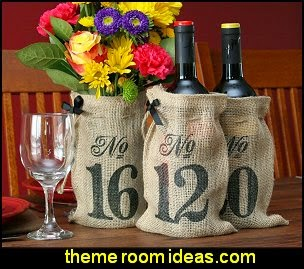 Burlap Table Number Wine Bags Burlap Favor Bags