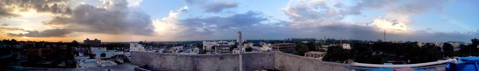panaroma shot taken at vishnupuri nanded