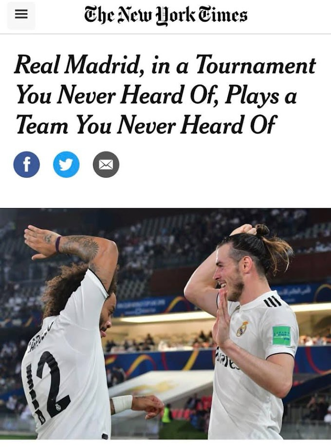 New York Times article - Real Madrid play teams no one has ever heard of in the Club World Cup