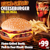 Value Meal: Flame-Grilled Cheeseburger for P99 at Burger King
