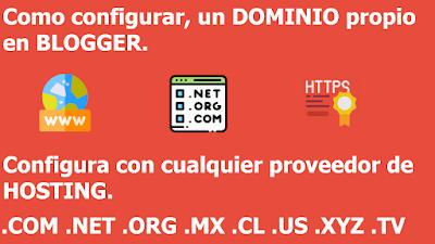 Como configurar un dominio propio en blogger