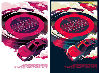 Baby Driver Movie Poster Screen Print by Matt Taylor x Mondo