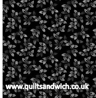 Spangles Black www.quiltsandwich.co.uk extra wide