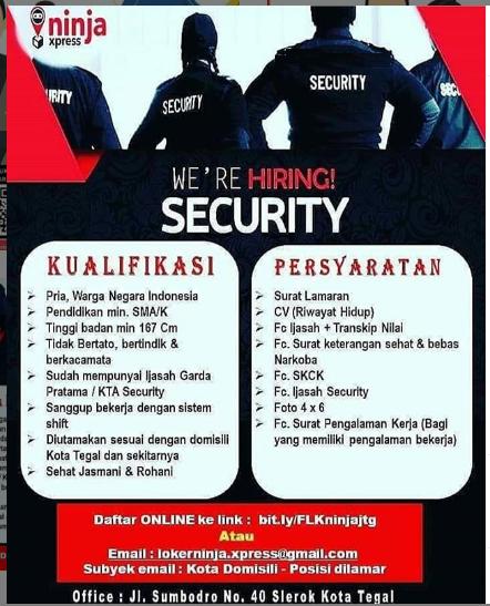 Loker Ninja Express Tegal 2020 Lowongan Kerja Banjarnegara Loker Banjarnegara Net