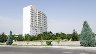 No black buildings are allowed. But who wants in Turkmenistan black houses?