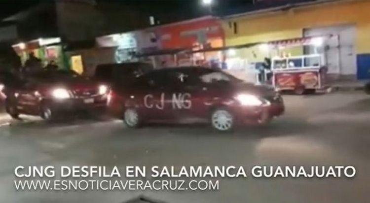 Difunden video con información falsa del CJNG desfilando en Salamanca, Guanajuato