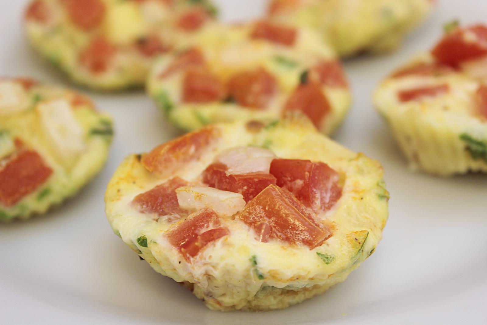 receita de muffin de omelete