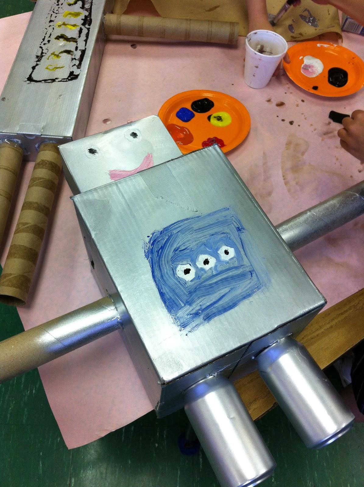 1st Grade In Wilmington  Robot Project