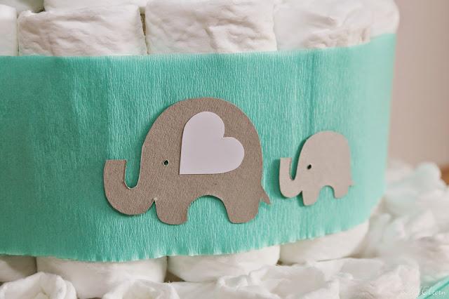 Stadtlandeltern - DIY - Windeltorte - Elefanten - Geburtsgeschenk