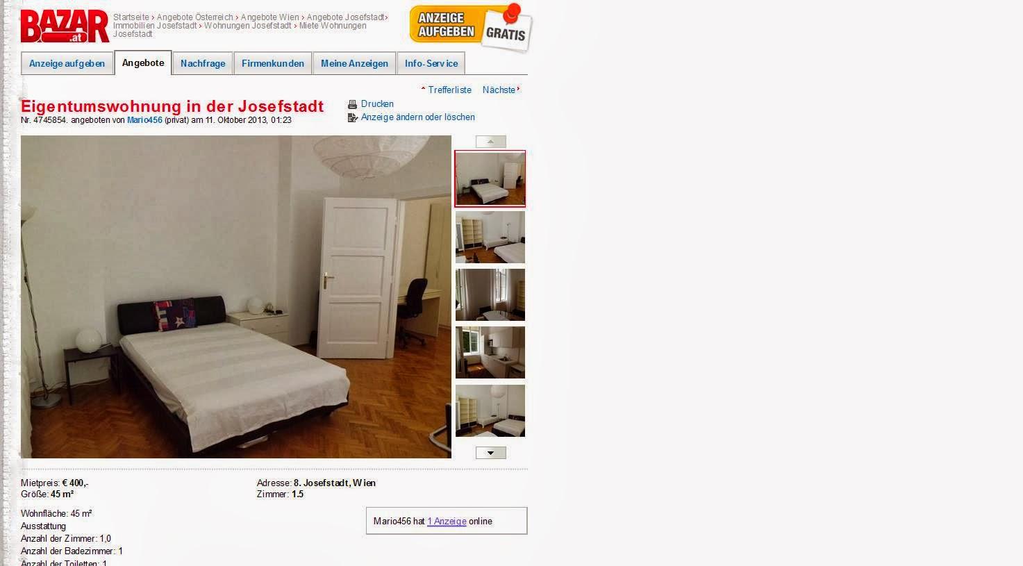 Alias mario456 tel for Eigentumswohnung
