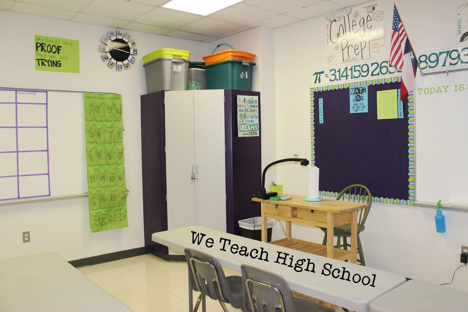 We Teach High School High School Math Classroom