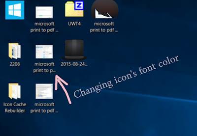 How to change desktop icon color windows 10