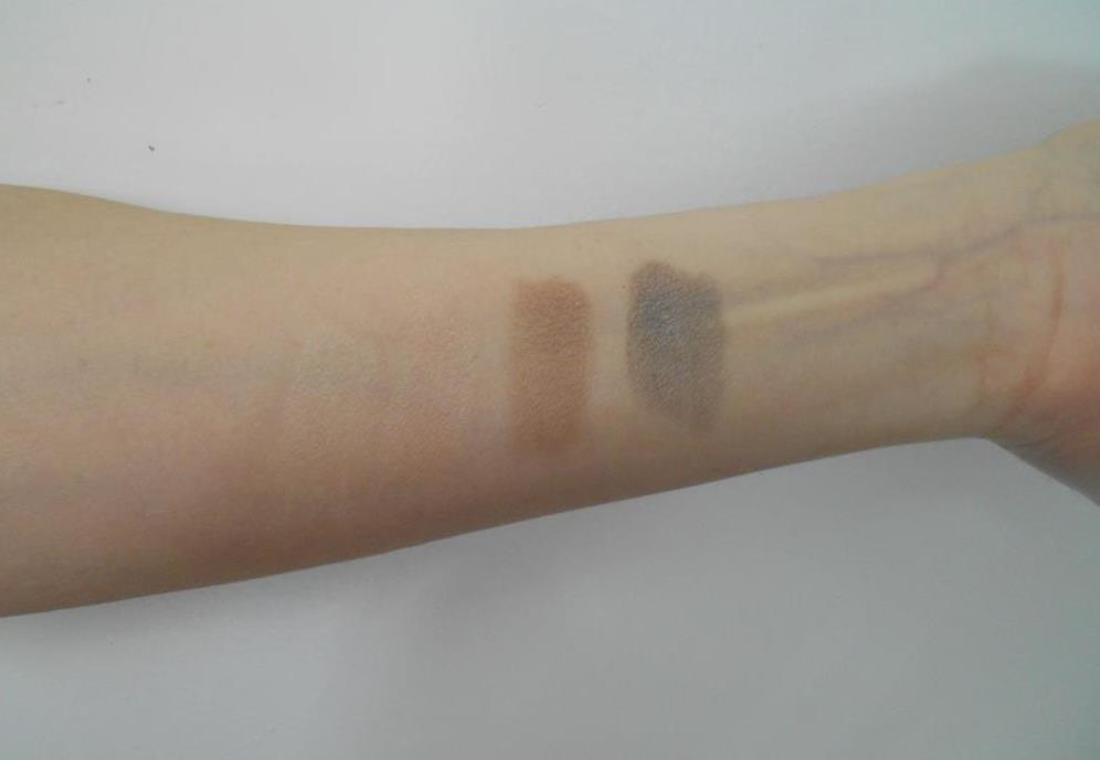 Swatches of  Rouge Bunny Rouge LoessEyeshadow Palette