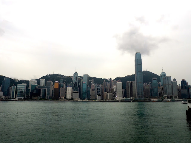 View of Hong Kong skyline and Victoria Harbour from Kowloon