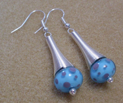 'Purple Polka Dot' earrings by Claire Francis