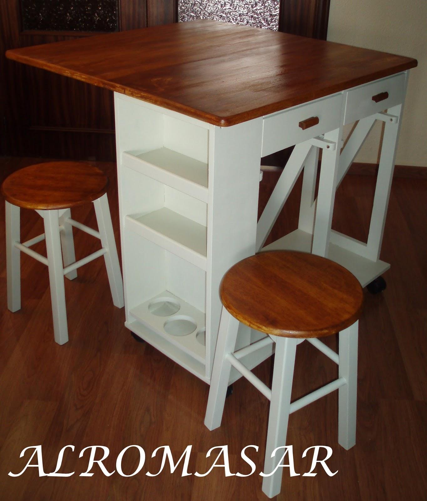 Alromasar restauraci n mesa extensible de cocina - Mesas auxiliares cocina ...