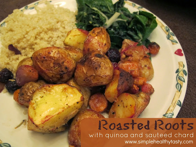 Roasted Root Vegetables with Sauteed Chard