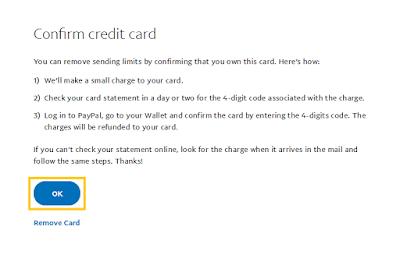 Confrim VCC Paypal