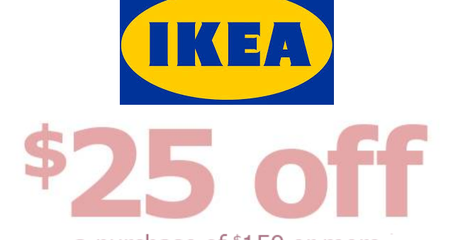 Ikea coupon 25 off 150 or more purchase heavenly steals for Buy ikea voucher online