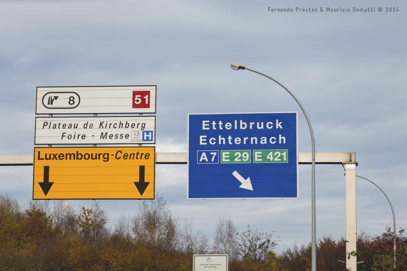 placa de trânsito de Luxemburgo