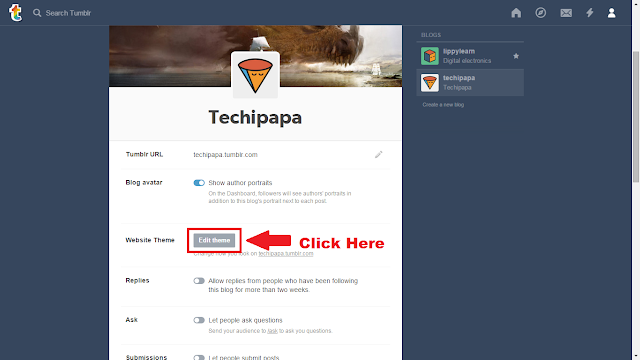 add google analytic to tumblr blog 3
