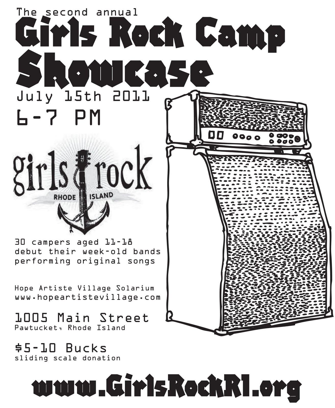 Delia Kovac: Girls Rock Camp Showcase flyer.
