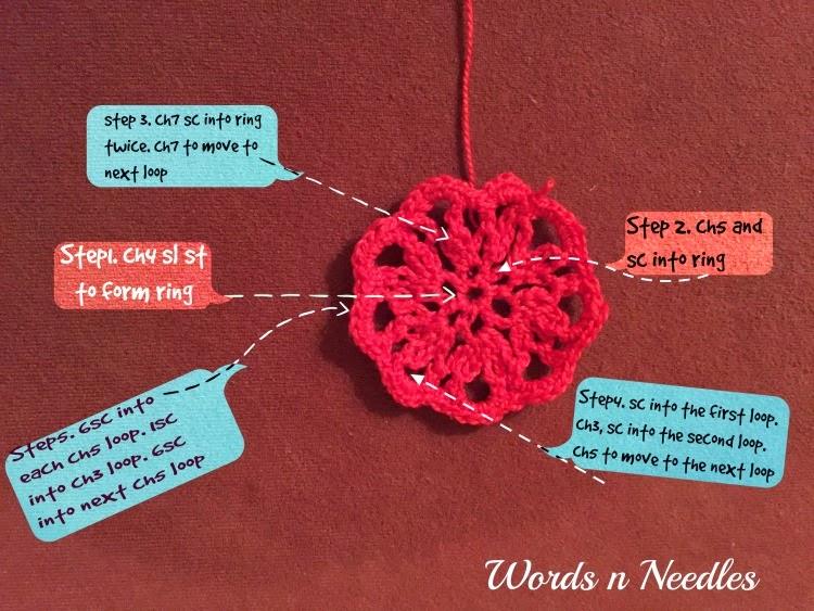 WordsnNeedles Crochet Challenge Crochet Flower Doily Ornament