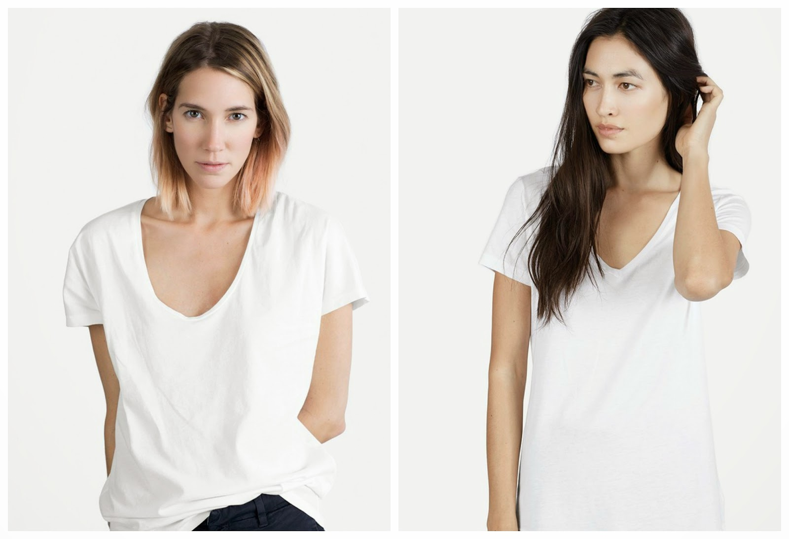 everlane, everlane tee, everlane v neck, white tee, everlane u neck