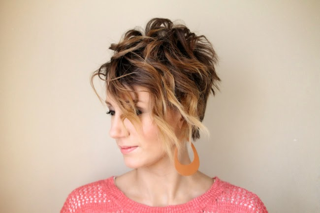Curled Ombre Pixie- tutorial