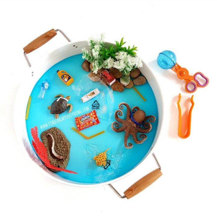 Kmart play tray pollution small world invitation to play