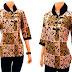 20+ Contoh Model Kemeja Batik Wanita Kombinasi Modern 2017