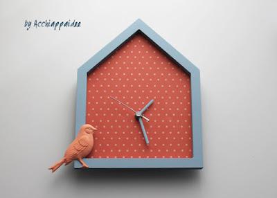 orologio casetta personalizzato da appendere