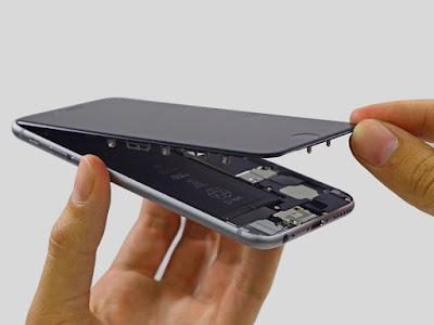 iphone 6 plus sau khi thay mat kinh