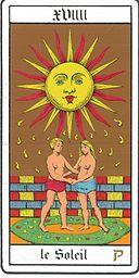 La carte du soleil, exemple de carte OUI pour un tirage OUI NON