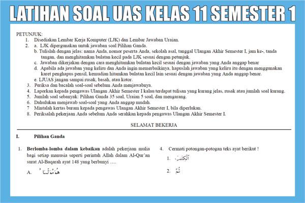 Latihan Soal UAS Kelas 11 SMA Semester 1 (ganjil)