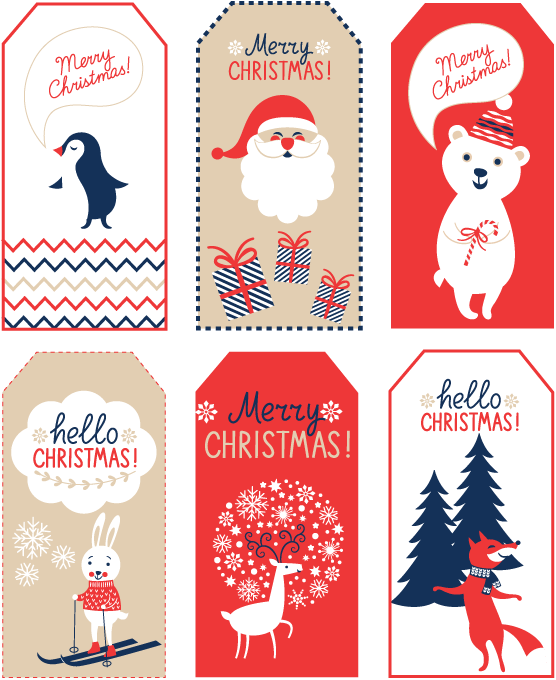 Free printable Christmas tags for gifts