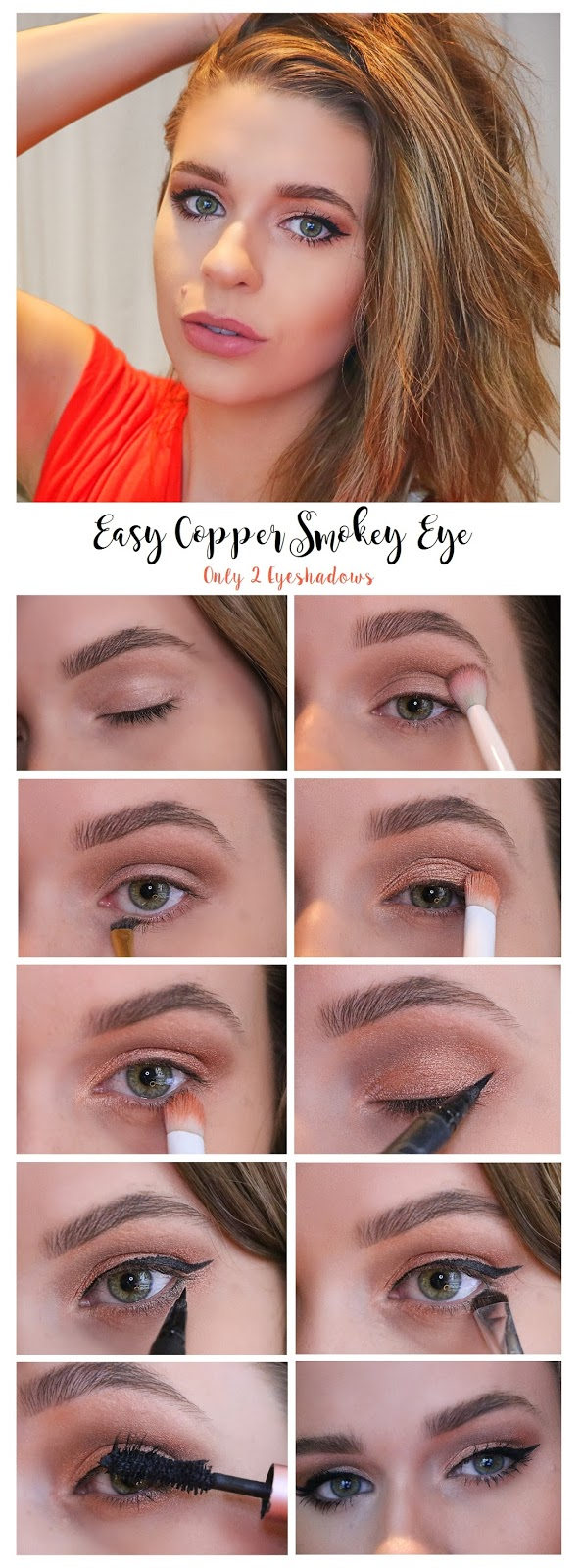easy beginners makeup tutorial smokey eye