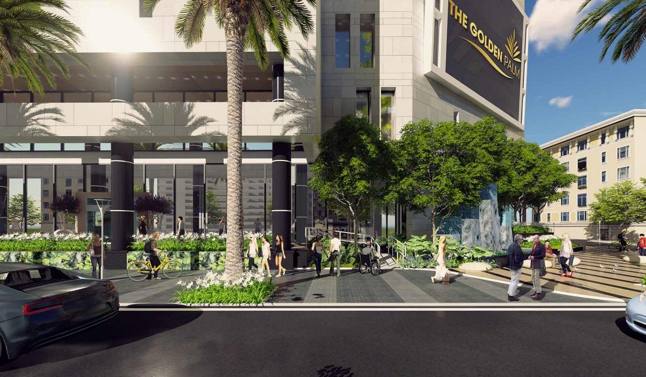 Không gian xanh tại The Golden Palm