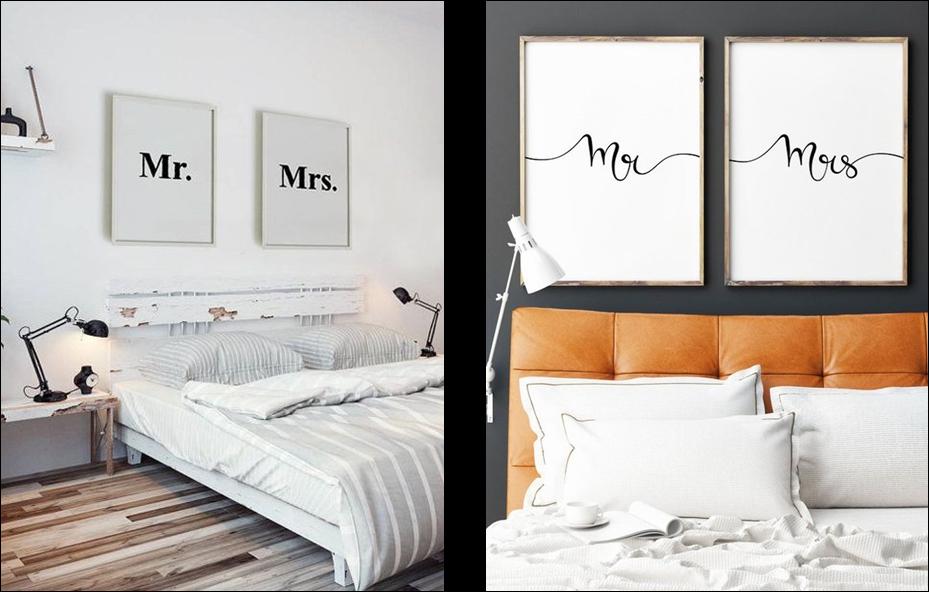 a2c341da9 Na casa dos Abrantes  15 quadros para decorar o quarto do casal