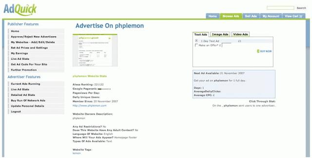 Php AdQuick Reklam Ağı Scripti – Advertiser Scripts