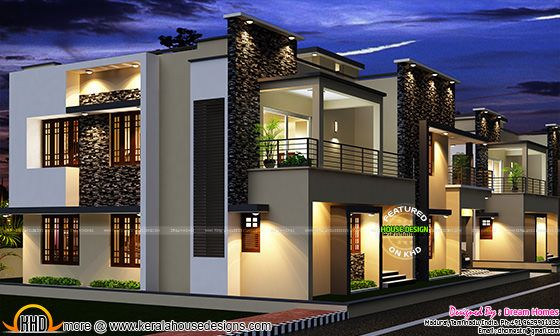 November 2015 kerala home design and floor plans for Plan architecte villa moderne