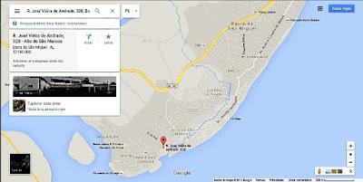 Localização do Residencial de apartamentos, Terraços da Barra município situado no estado de Alagoas