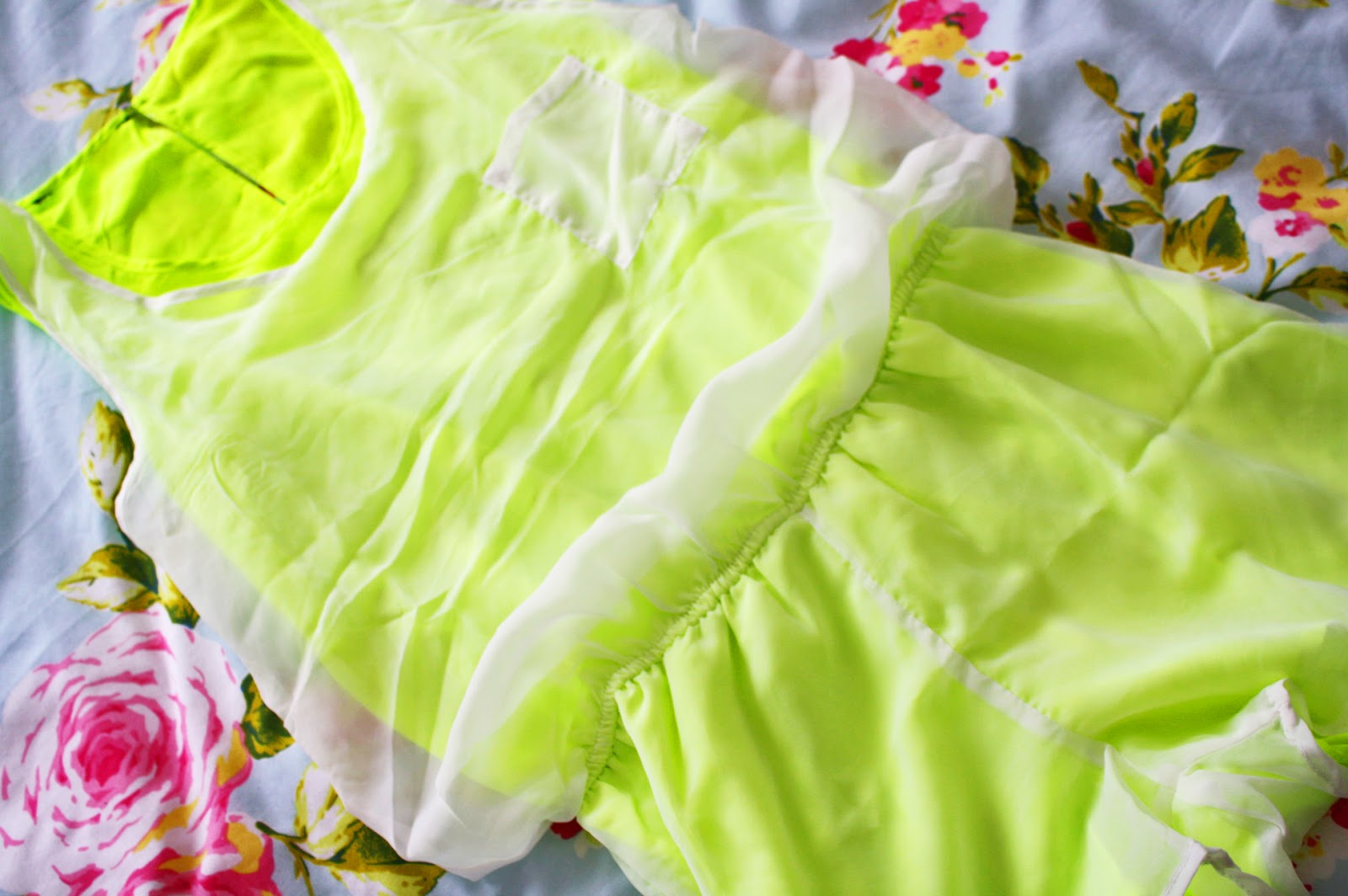 A bright coloured playsuit from SheInside